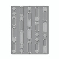 Spellbinders Embossing Folders  -  Curtain Beads