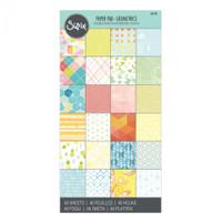 """Sizzix Paper - 6"""" x 12"""" Cardstock Pad, 48 Sheets - Geometrics"""