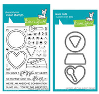 Lawn Fawn Stamps & Dies Bundle - Pizza My Heart