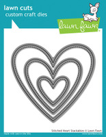 Lawn Fawn Dies - Stitched Heart Stackables