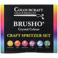 Brusho Crystal Colours Craft Spritzer Set 6/Pkg
