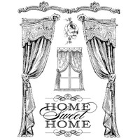 Stamperia High Definition Rubber Stamp - Home Sweet Home