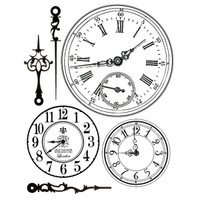 Stamperia High Definition Rubber Stamp - Clocks