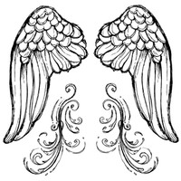 Stamperia High Definition Rubber Stamp - Angel's wings