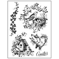 Stamperia High Definition Rubber Stamp - Nests