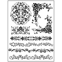 Stamperia High Definition Rubber Stamp - Bordures