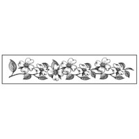 Stamperia High Definition Rubber Stamp - Flowers borders