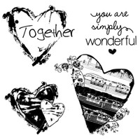 Stamperia High Definition Rubber Stamp - Hearts Together