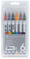 Zig Clean Color Real Brush Markers 6/Pkg