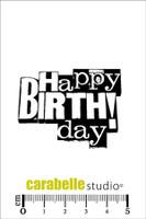 Carabelle Mini Stamps - Happy Birthday