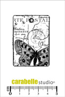 Carabelle Mini Stamps - Tag Carte Postale Au Papillon