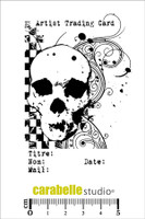 Carabelle A7 Stamps - ATC,Skull