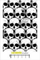 Carabelle A6 Stamps - Background Tetes De Mort