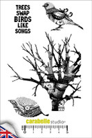 Carabelle A6 Stamps - Tree and Bird