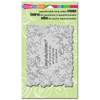 Stampendous Cling Stamp - Congratulations Stars