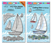Stampendous Cling Stamps and Dies Bundle - Sailboat