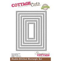 CottageCutz Basics Dies 6/Pkg - Double Stitched Rectangle