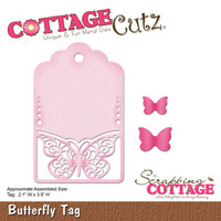 CottageCutz Die - Butterfly Tag
