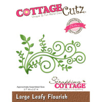 CottageCutz Elites Die - Large Leafy Flourish
