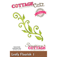 CottageCutz Elites Die - Leafy Flourish 1