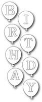 Memory Box Poppystamps Dies - Birthday Balloons