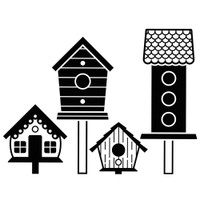 Darice A2 Embossing Folder - Birdhouses On Posts