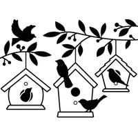 Darice A2 Embossing Folder - Birdhouses In Tree