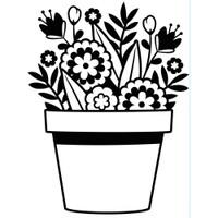 Darice A2 Embossing Folder - Flowers In Pot