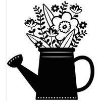 Darice A2 Embossing Folder - Flowers In Watering Can