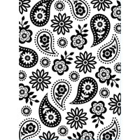 Darice A2 Embossing Folder - Floral Paisley