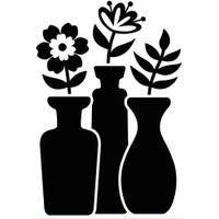 Darice A2 Embossing Folder - Bud Vase Trio