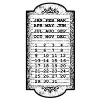 Stamperia High Definition Rubber Stamp -  Calendar
