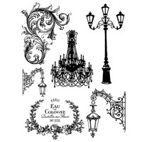 Stamperia High Definition Rubber Stamp -  Lamp post