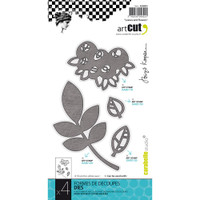 Carabelle Art Cut Die  4/Pkg - Leaves And Flowers
