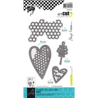 Carabelle Art Cut Die  4/Pkg - My Heart
