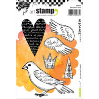Carabelle Studio Cling Stamp A6 - The Heart & The Bird