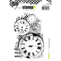 Carabelle Studio Cling Stamp A6 - Clocks Background