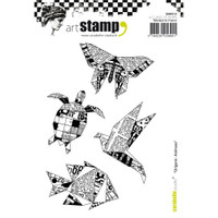 Carabelle Studio Cling Stamp A6 - Origami: Animals