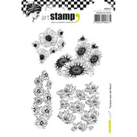 Carabelle Studio Cling Stamp A6 - Textures With Flowers