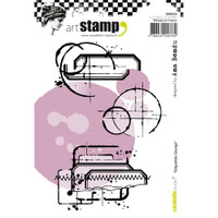 Carabelle Studio Cling Stamp A6 - Grunge Labels