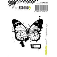 """Carabelle Studio Cling Stamp 2.75""""X3.75"""" - Grunge Butterfly"""