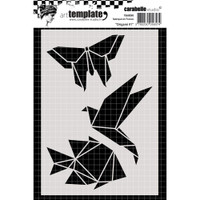 Carabelle Studio Template A6 - Origami #1