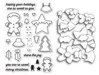 Memory Box Dies & Stamps Die Set - Frosted Christmas