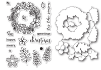 Memory Box Dies & Stamps Die Set - Christmas Botanicals
