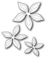 Memory Box Poppystamps Dies - Stitched Poinsettia Trio