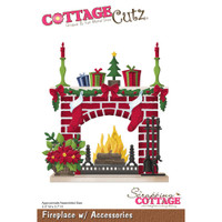 CottageCutz Die - Fireplace With Accessories