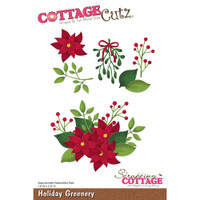 CottageCutz Die - Holiday Greenery