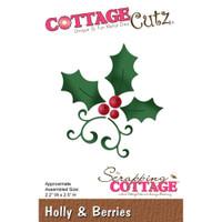 CottageCutz Die - Holly & Berries