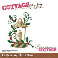 CottageCutz Die - Lantern With Holly Vine