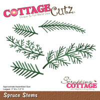 CottageCutz Die - Spruce Stems